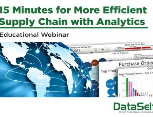 15 Minutes for More Efficient Supply Chain Analytics Webinar