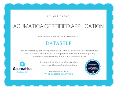DataSelf Analytics Lite Application Certified by Acumatica